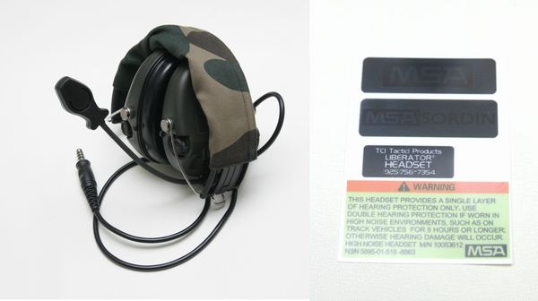 ELEMENT レプリカ Sordin Headset (Military Standard Plug)