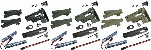 M4 Clubfoot Modstock - w/ Pipe & 1400mAh-9.6V Battery