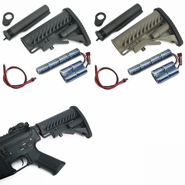 King Arms M4 Tactical Stock - w/ 1400mAh-9.6V Battery