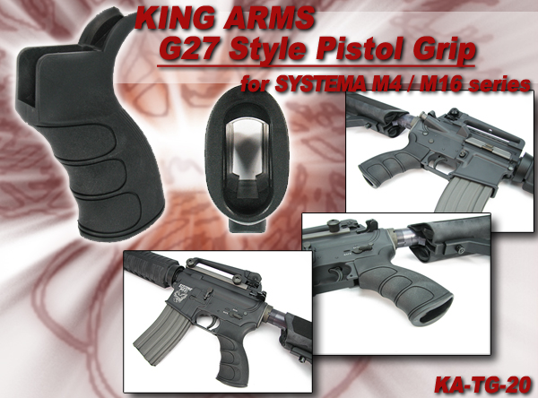 King Arms G27 Style Pistol Grip for SYSTEMA M4/M16 Series - BK